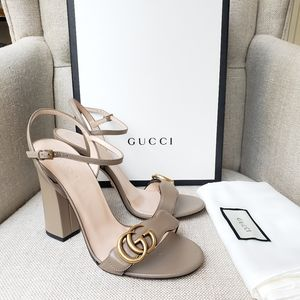💯Authentic! Brand New Gucci Marmont block heels